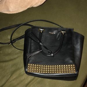Studded coach crossbody